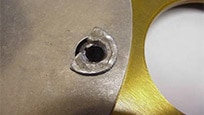 Non-genuine riveted joints are not heat-treated