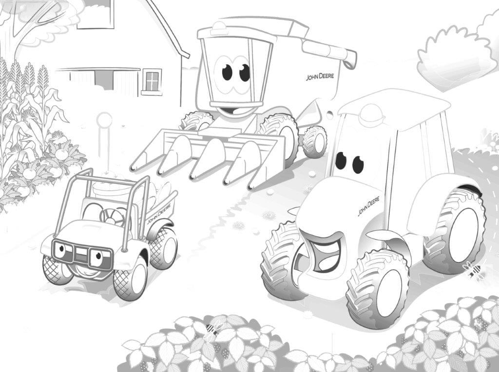 mähdrescher ausmalbilder  traktor ausmalbilder